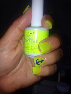 Ibd gel polish nails anchor nail art color solar rays Instagram @__holychic__