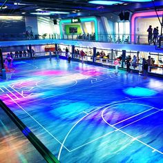 Introducing the first-ever roller rink at sea. Anthem of the Sea's indoor activity space, SeaPlex, is like no other.