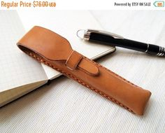 ON SALE 30% OFF Personalized Pen Case Leather Harlex by HarLex