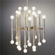Foyer Light?, Jonathan Adler Bamboo Rod Chandelier, in Polished Nickel or Brass? $849