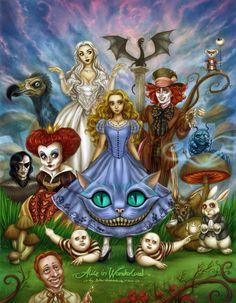 Cool interpretation of Tim Burton's Alice in Wonderland