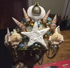 Sea shell crown home made