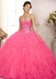 Vestido largo hasta los pies rosa con arreglos rosa