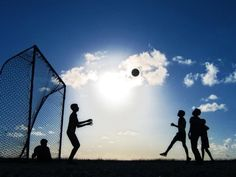 Silhouette Photography of Soccer Players