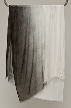 humanoid silk/wool dip dye scarf