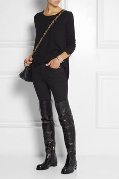 JIMMY CHOO Deron polished leather over-the-knee boots £778.75 http://www.net-a-porter.com/products/458822