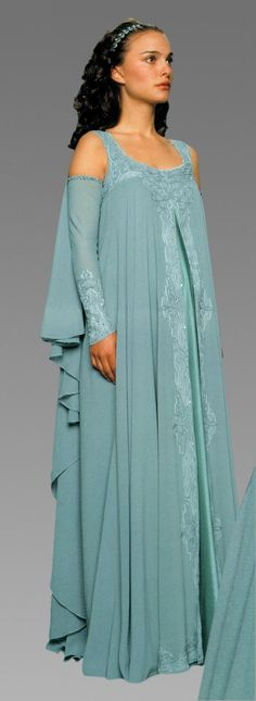 Amidala's aqua nightgown from Ep. III