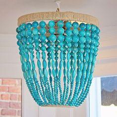 Look-a-like chandelier in Penelope's nursery!