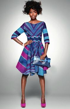 West and Central African prints Unique Dress valentines day style #UNIQUE_WOMENS_FASHION