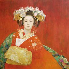 Tayuu NIHONGA Tayu thin cloud 違屋 wheel (Japanese painting)