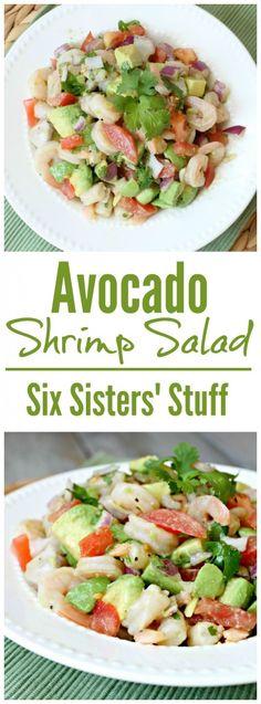 Shrimp Salad This Avocado Shrimp Salad is the perfect side dish for summer time!This Avocado Shrimp Salad is the perfect side dish for summer time! Shrimp Avocado Salad, Shrimp Salad Recipes, Fish Recipes, Seafood Recipes, Cooking Recipes, Dinner Recipes, Healthy Recipes, Shrimp Nachos, Keto Avocado
