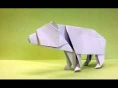 (67) How To Make An Origami Bear - YouTube