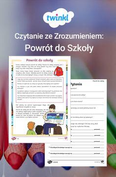 Czytanie ze zrozumieniem na powrót do szkoły we wrześniu! Czytanka o trzech różnych poziomach trudności. Pomóż dzieciom przygotować się na nadchodzący rok szkolny.  #czytanie #ze #zrozumieniem #powrót #do #szkoły #wrzesień #jesień #szkoła #nauka #edukacja #czytanka #test #ćwiczenie #język #polski #dzieci #uczeń #uczniowie #podstawowa #twinkl #materiały #edukacyjne #darmo #polska #arkusz Free