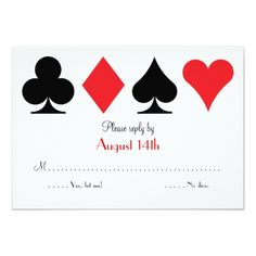 Las Vegas Wedding RSVP Cards Destiny Las Vegas Wedding RSVP reply card