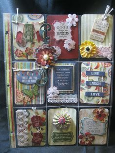 Pocket Letter Inspiration with Kathi Hello Crafty friends, Kathi here to share with you my Quick Quotes project. I created a pocket letter using Quick Quotes *new* Earth Wind Fire paper line and coordinating Chipboard Die Cuts.