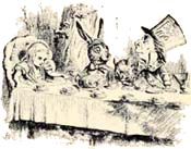 Theme, setting, character descriptions, story origins, interpretations and 'hidden meanings' for Lewis Carroll's Alice in Wonderland books.
