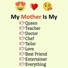 Yes mumma you are maahh everything. Love My Parents Quotes, Mom And Dad Quotes, I Love My Parents, Love U Mom, Father Daughter Quotes, Father Quotes, Family Quotes, True Feelings Quotes, Reality Quotes