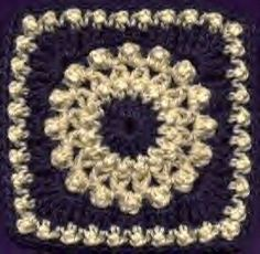 Antique Pearls Square - free crochet pattern