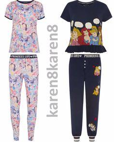 f26bdd345a Ladies Princess Life Pyjamas Primark Disney Womens Pajamas T Shirt Leggings  Primark Nightwear