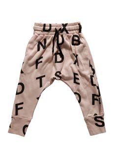 Alphabet Baggy Pants by Nununu