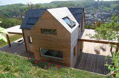 Maison V.W. - Extérieur : Maisons modernes par Franklin Azzi Architecture