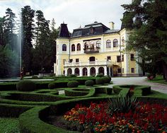 """Mansion Betliar, Slovakia - my grandfather was from this little village, where this manor house/hunting lodge is located. Has a rather amazing garden. Heart Of Europe, Dream House Exterior, Exotic Places, How To Get Rich, Places Around The World, Amazing Gardens, Luxury Homes, The Good Place, Beautiful Places"
