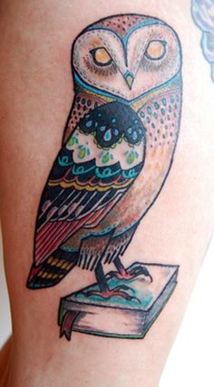 another owl by tattoo artist david hale