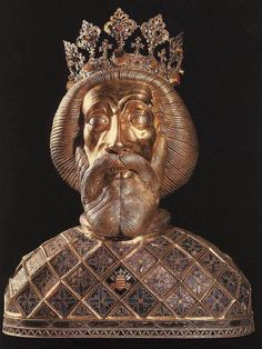 Herma of Saint László King of Hungary 1400-1425  Gilded silver  Cathedral Gyõr