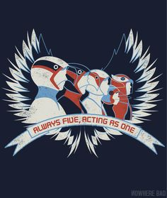 Always Five, Acting As One T-shirt on http://www.nowherebad.com/ - Need!