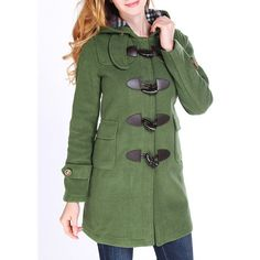 Wholesale Sweet Style Hooded Long Sleeve Buttoned Pocket Design Women's Coat Only $26.32 Drop Shipping | TrendsGal.com