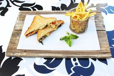 Indulge in a variety of chef specialties at our onsite restaurant: Restaurant & Courtyard. Toast Sandwich, Fresh Basil, Hyde, Cape Town, Mozzarella, Sandwiches, Reception, Chips, Tasty