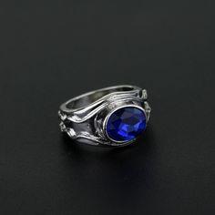 The Lord Rings Vilya Nenya Narya Elrond Galadriel Gandalf Ring LOTR jewelry elf Three Rings women jewelry With Blue Crystal