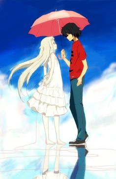 Jintan y Menma (AnoHana) Manga Anime, Otaku Anime, Anime Art, Anime Crossover, Menma Anohana, Manhwa, Arte Sailor Moon, Ghibli Movies, Animes Wallpapers
