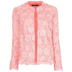 CHRISTOPHER KANE lace jacket ($1,630) ❤ liked on Polyvore