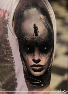 Fantasy half sleeve tattoo by Rainer Lillo