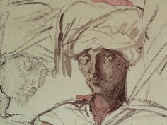 CHASSERIAU Théodore,1846 - Arabes - drawing - Détail 02