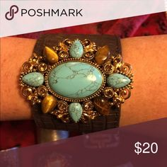 Leather Cuff! Brand new never worn! Originally $50 Jewelry Bracelets
