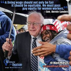 Bernie supports the fight for fifteen.