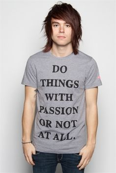 The Ready Set / And I love this shirt too. Glamour Kills for the win!