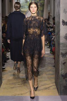 """Lulu"", dark Chantilly lace toga dress. ""Lulu""- Valentino"