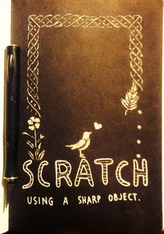 "My wreck this journal page ""cat scratch fever "" (done with xacto knife) cheers! -Nitro-"
