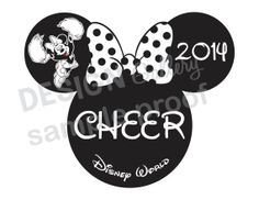 Minnie Mouse Cheer design DIY Printable Iron On t shirt Transfer Instant Download Cheerleading Nationals Disney World