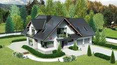 More Space For The Family: Modern Double Storey House Plan - House And Decors Double Storey House Plans, Two Storey House, Modern Bungalow House, Modern House Design, Modern Architectural Styles, Porch House Plans, Village House Design, French Country House Plans, Cottage Homes