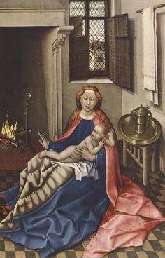 Мадонна с младенцем. Роберт Кампен.  Государственный Эрмитаж.   1435 г.