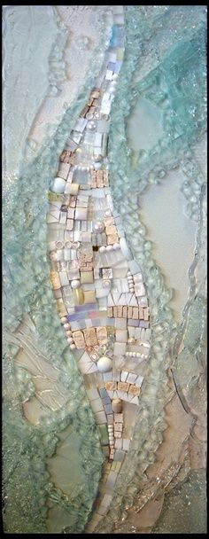 """mosaic and fused glass blend - like this""""Voice"""" by Thaden Mosaics Mosaic Wall, Mosaic Glass, Mosaic Tiles, Fused Glass, Stained Glass, Glass Art, Tiling, Mosaic Crafts, Mosaic Projects"""