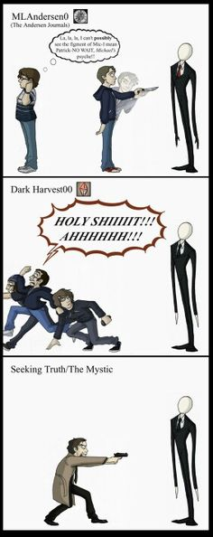 Dark harvest.... The only people who arent idiots.... 2nd place goes to marble hornets and 3rd.... Idk most of em either try to kill him or hunt for him and then attack when really.... JUST RUN M8!!! If i was in that situation ill just nooe run and then move into the city!!! New york or tokyo seem nice :3