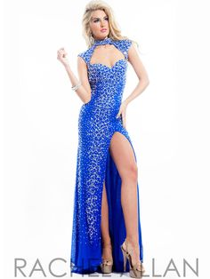 42e5ec2501 High Neck With Open Back Formal Prom Dress By Rachel Allan 6938 Poofy Prom  Dresses