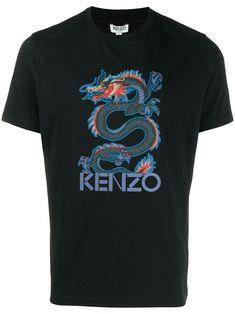Kenzo dragon print T-shirt - Shop Now! Beach Logo, Dragon Print, Shirt Shop, T Shirt, Check Shirt, Kenzo, Street Wear, Women Wear, Mens Tops