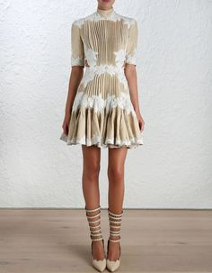 Mischief Rosette Laced Dress from Zimmerman. Somebody get me this dress and invite me somewhere nice to wear it!!