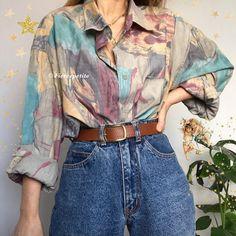 look Vintage Clothing Indie Outfits, Cute Casual Outfits, Retro Outfits, Vintage Outfits, Vintage Clothing Styles, Look 80s, Look Retro, Look Vintage, 80s Fashion